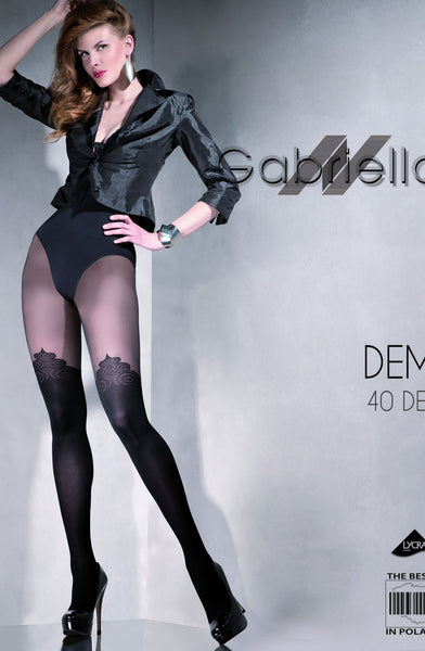 Gabriella Fantasia Demi Tights Nero (Black)4 (L)