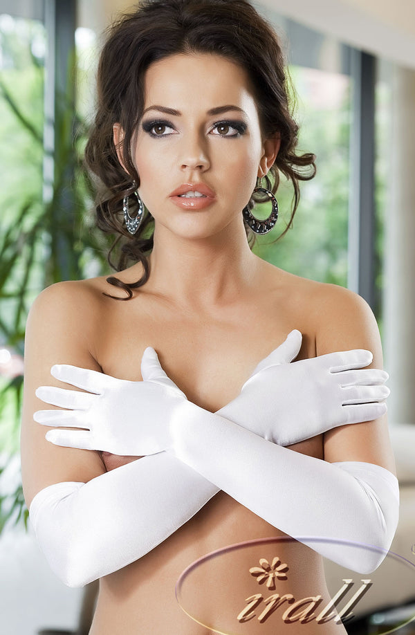 Irall Erotic Astrid Gloves White WhiteOne Size