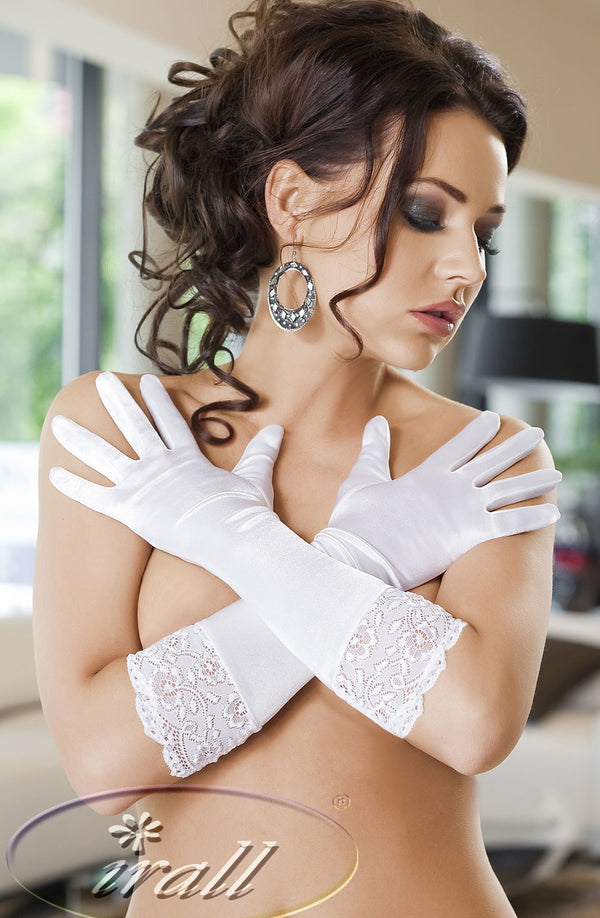 Irall Erotic Nora Gloves White WhiteOne Size
