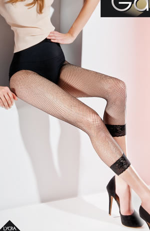 Gabriella Kabarette Fishnet Leggings Nero (Black)3