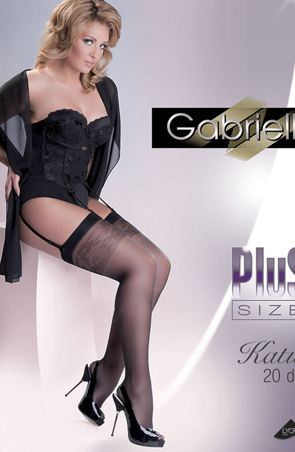 Gabriella Katia Stockings Plus  Nero (Black)5/6 (X