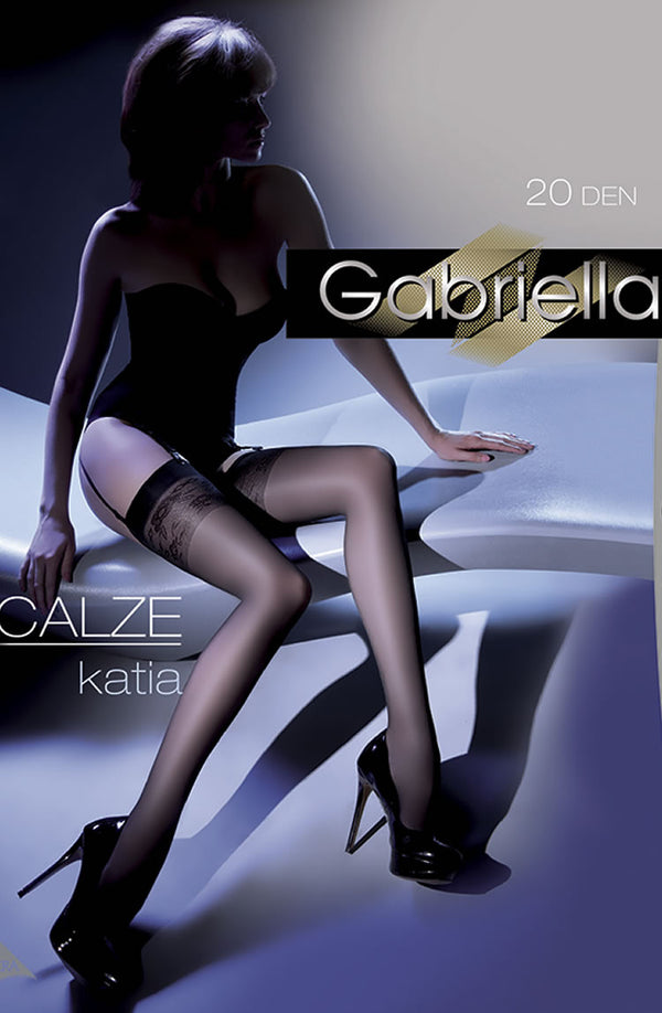 Gabriella Katia Stockings Nero (Black)3/4 (M/L)