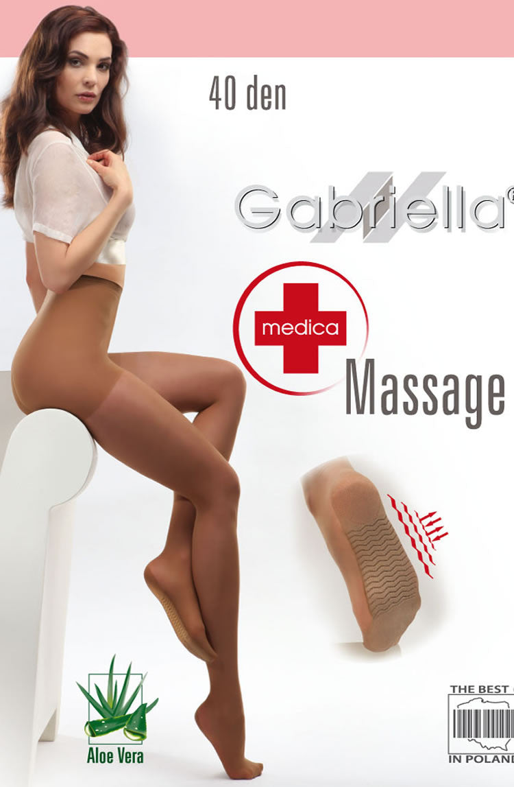 Gabriella Classic Massage 40 Tights Biege4 (L)