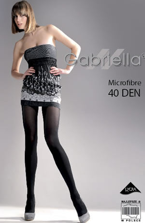 Gabriella Classic Microfibre 40 Tights Nero (Black