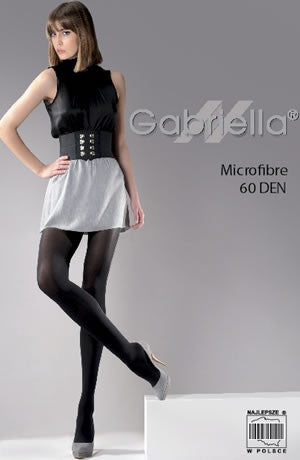 Gabriella Classic Microfibre 60 Tights Nero (Black