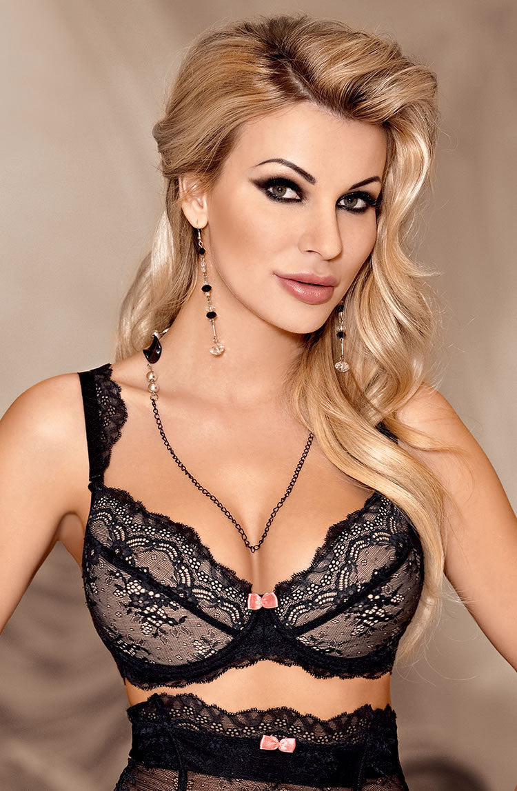 Roza Ambre Push-up Bra Black Black38D
