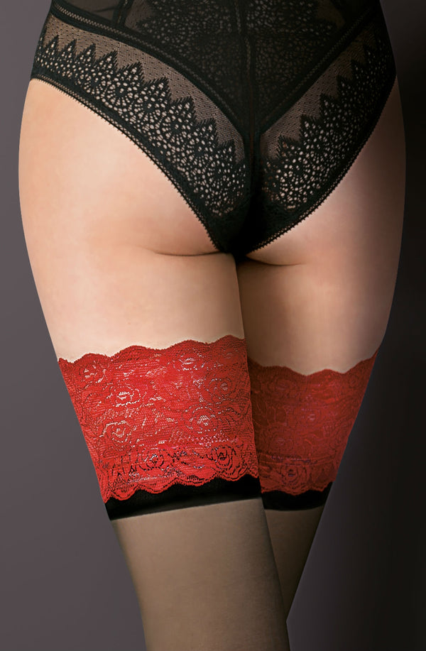 Victoria Hold Ups Black/Red