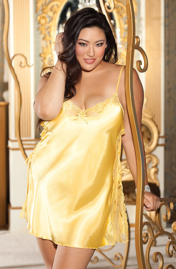 Shirley of Hollywood SoH-IA X20015 Chemise Yellow