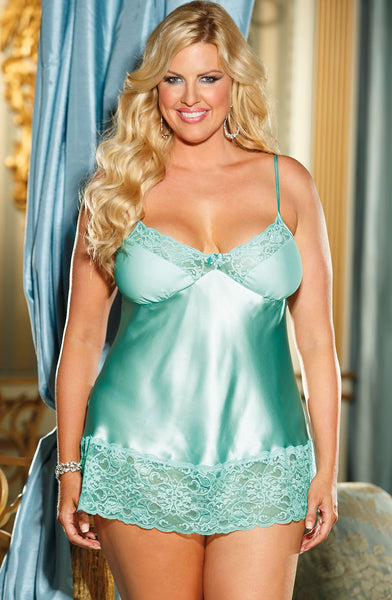 Shirley of Hollywood SoH-IA X20562 Chemise Green S
