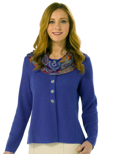 Angela in Spectrum Blue with scarf