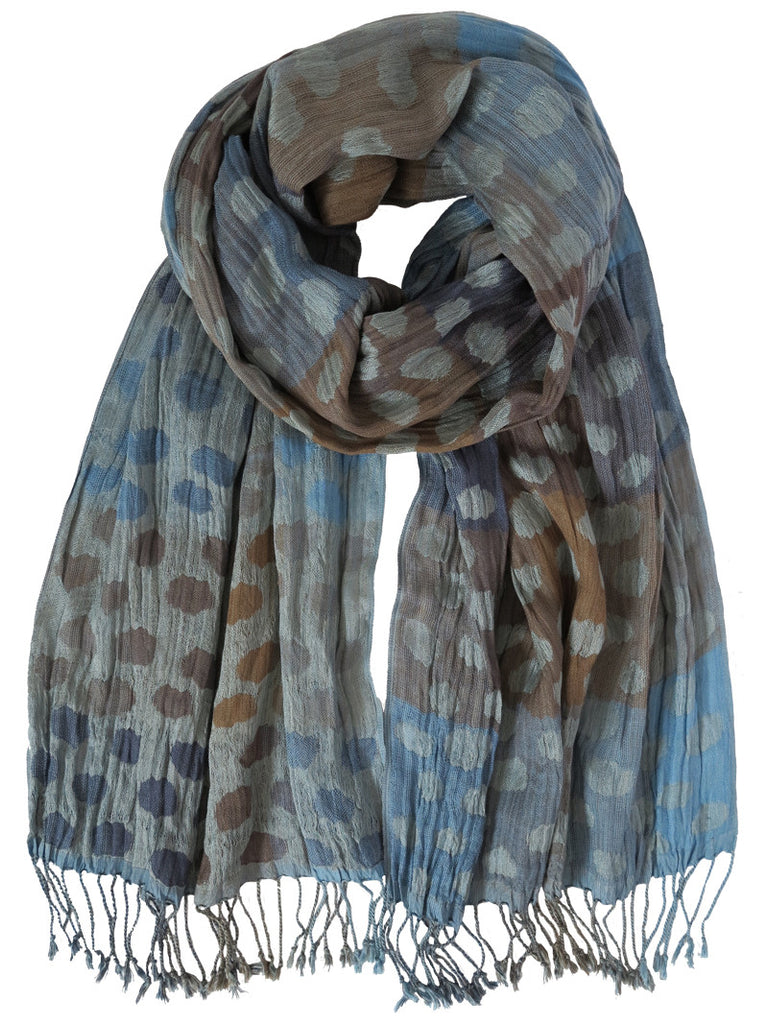 Ash Blue Mix Silk Scarf