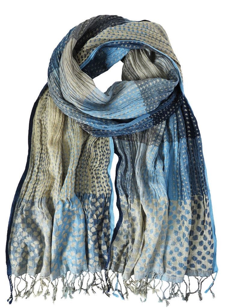Silk Scarf - Blue Dots by Artisan Route