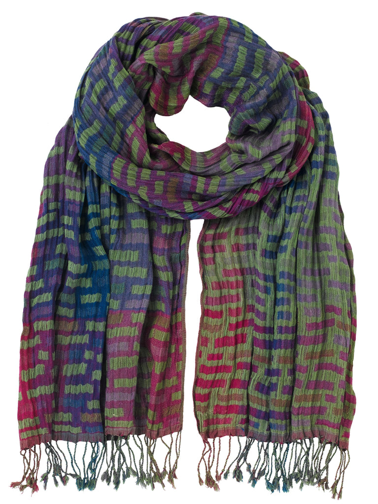 Silk Scarf - Bricks Fiesta Mix by Artisan Route
