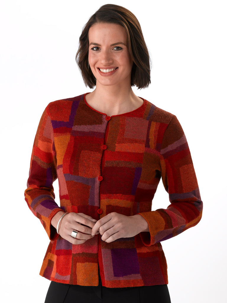 Alpaca Knitwear - Brushstrokes in Fire by Millma at Artisan Route