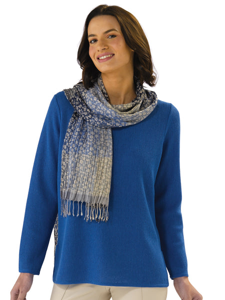 Daniela in Lapis with Scarf