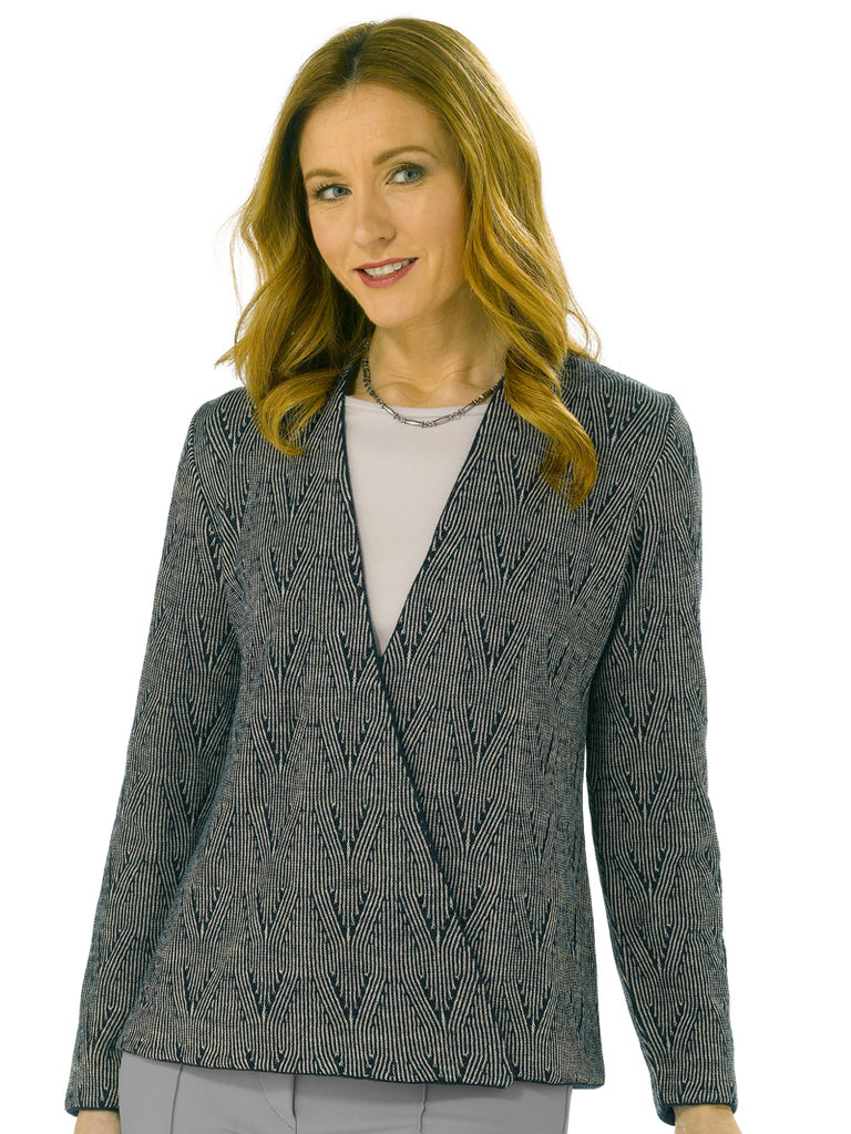 Alpaca Knitwear - Carla in Navy Mix