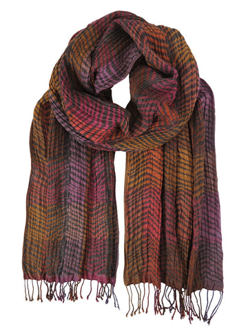 Silk Scarf - Chevrons Berry Mix by Artisan Route