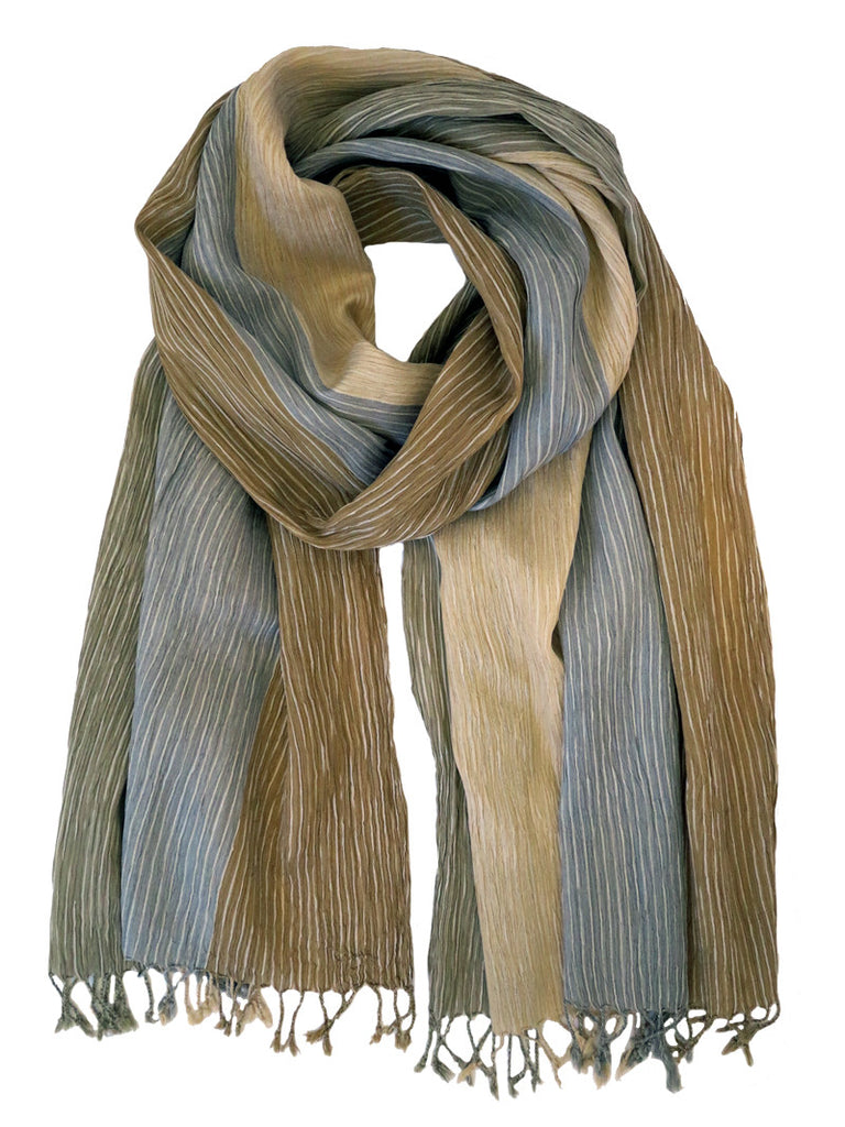 Silk Scarf - Crinkle Green by Artisan Route