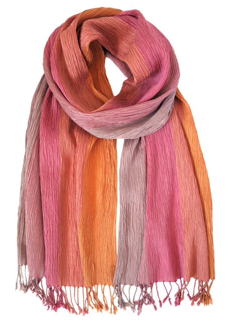 Silk Scarf - Crinkle Pink by Artisan Route