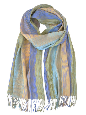 Crinkle Yellow - Silk Scarf