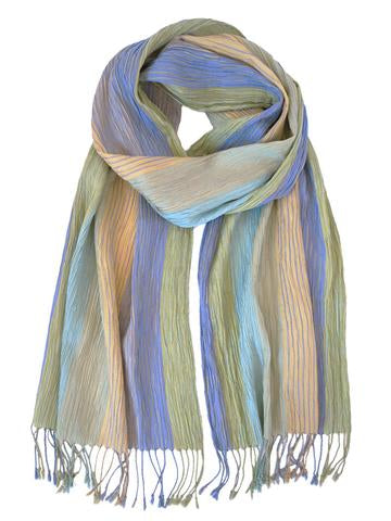 Silk Scarf - Crinkle Yellow by Artisan Route