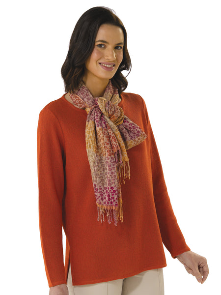 Daniela in Burnt Orange with Scarf