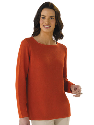 Alpaca Knitwear - Daniela in Burnt Orange by Artisan Route