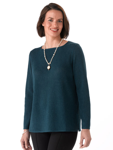 Alpaca Knitwear - Daniela In Petrol Blue by Artisan Route