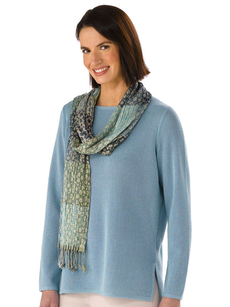 Alpaca Knitwear - Daniela in Seagrass with Scarf