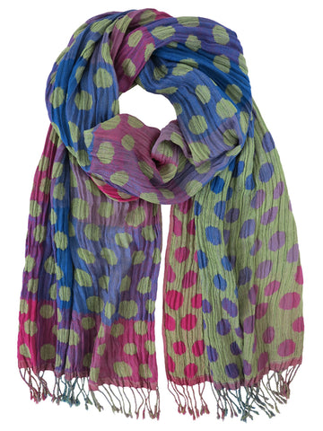 Silk Scarf - Gladioli Polka Dot by Artisan Route