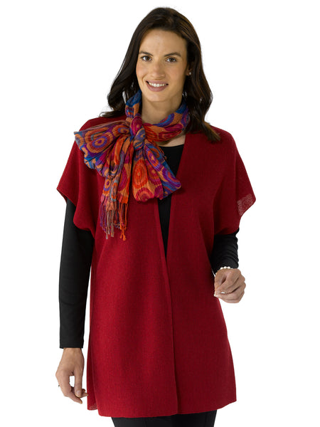 Ivana in Ruby with Scarf