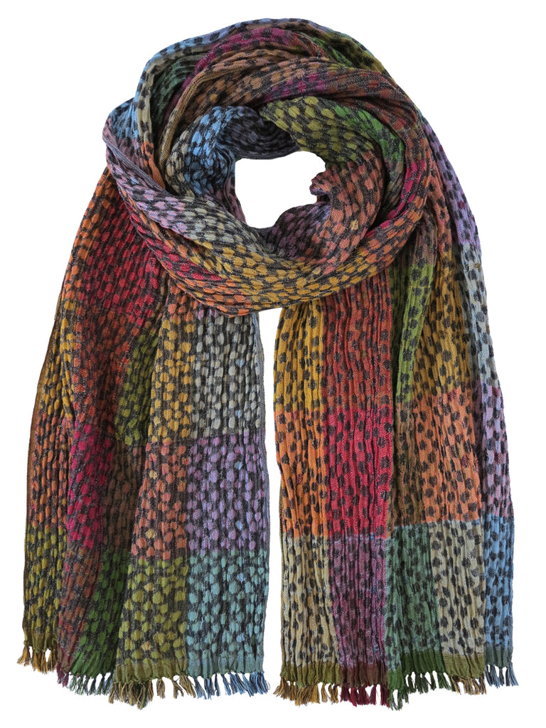 Silk Scarf - Jaguar Flora Mix by Artisan Route