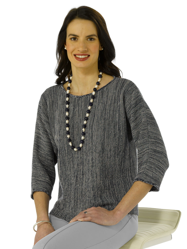 Alpaca Knitwear- Lara in Navy Mix by Artisan Route