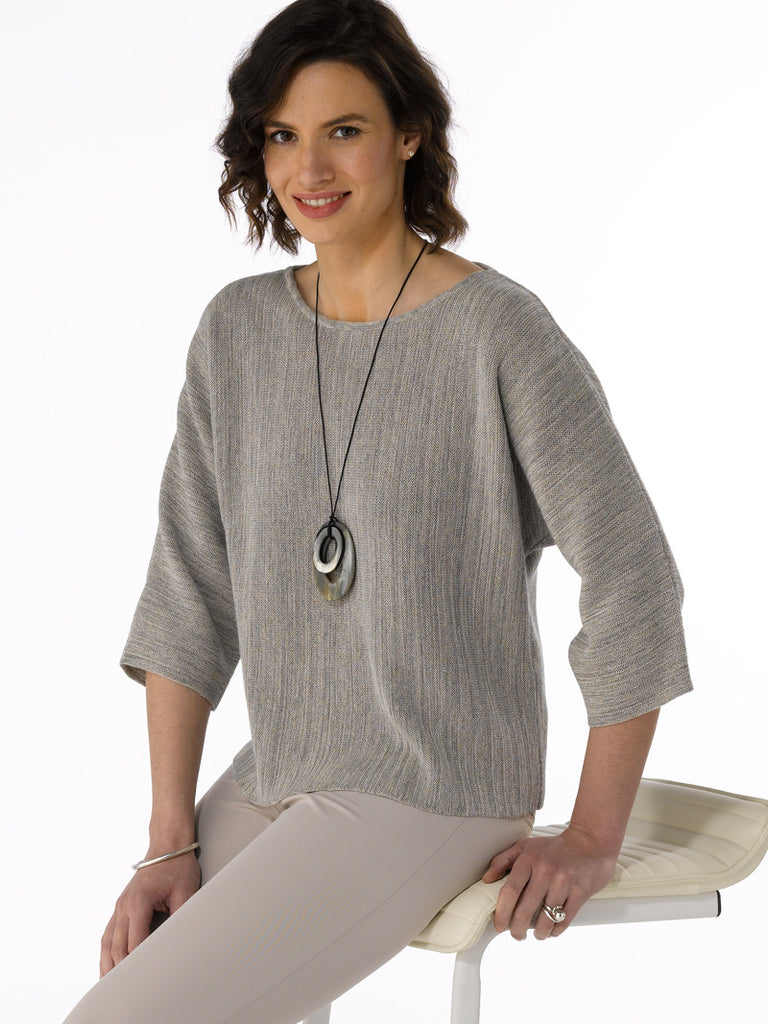 Alpaca Knitwear - Lara in Light Grey Mix by Artisan Route