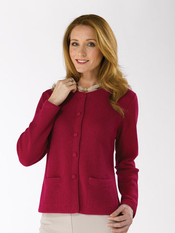 Alpaca Knitwear - Lauren in Cherry by Artisan Route
