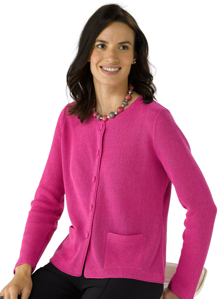 Alpaca Knitwear - Lauren in Fuchsia by Artisan Route