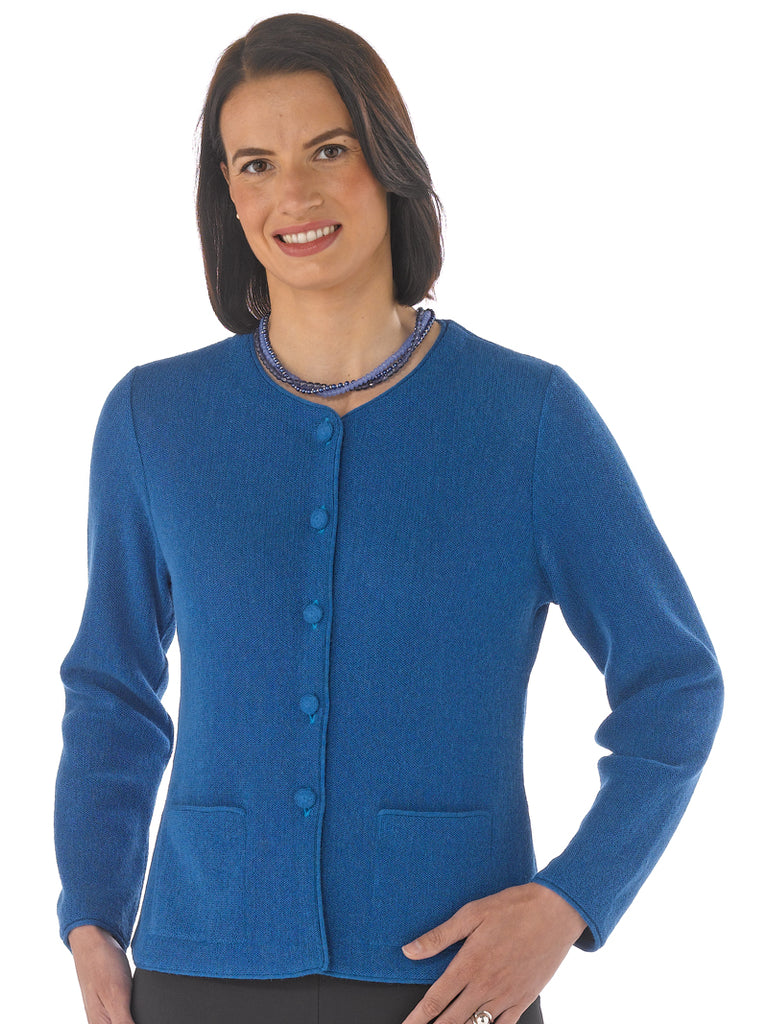 Alpaca Knitwear - Lauren in Snorkel Blue by Artisan Route