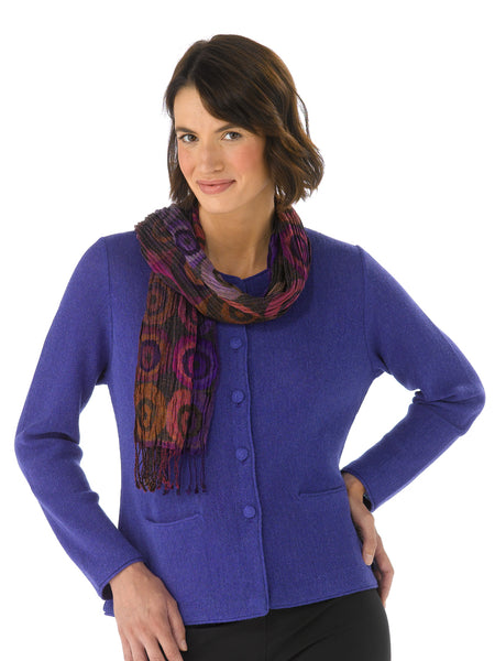 Lauren in Spectrum Blue with Scarf