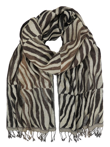 Silk Scarf - Long Tiger Soft Naturals by Artisan Route