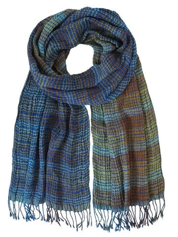 Silk Scarf - Marine Stripe by Artisan Route