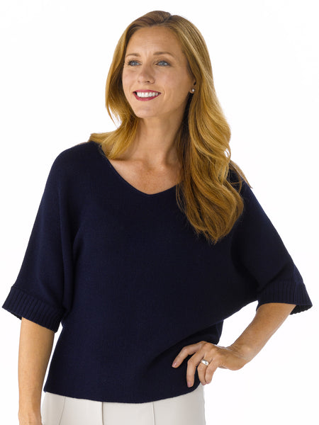 Alpaca Knitwear - Martina in Deep Navy by Artisan Route