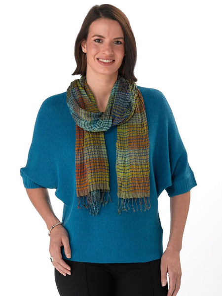 Martina in Teal with Scarf