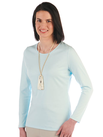Pima Cotton T Shirt-Patricia in Omphalodes by Artisan Route