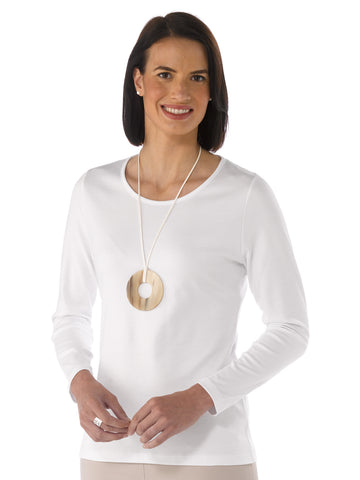 Pima Cotton T Shirt - Patricia in White by Artisan Route