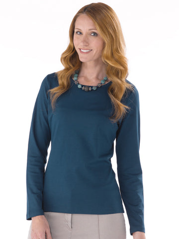 Pima Cotton T Shirt - Patricia in Petrol Blue by Artisan Route