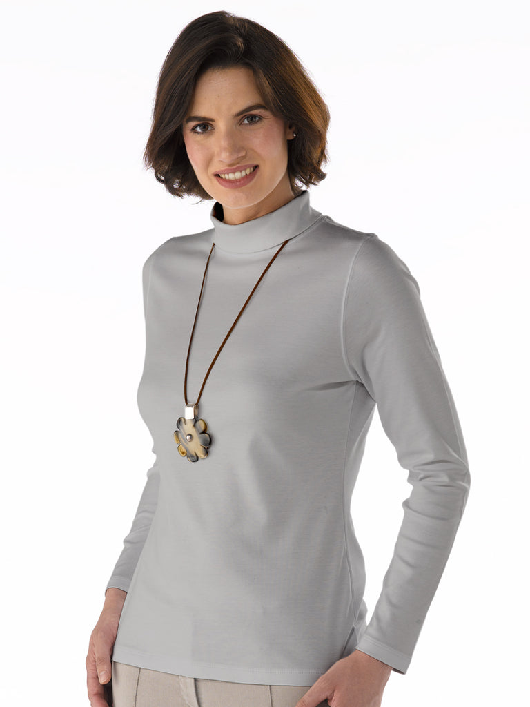 Pima Cotton T Shirt - Paula in French Grey by Artisan Route