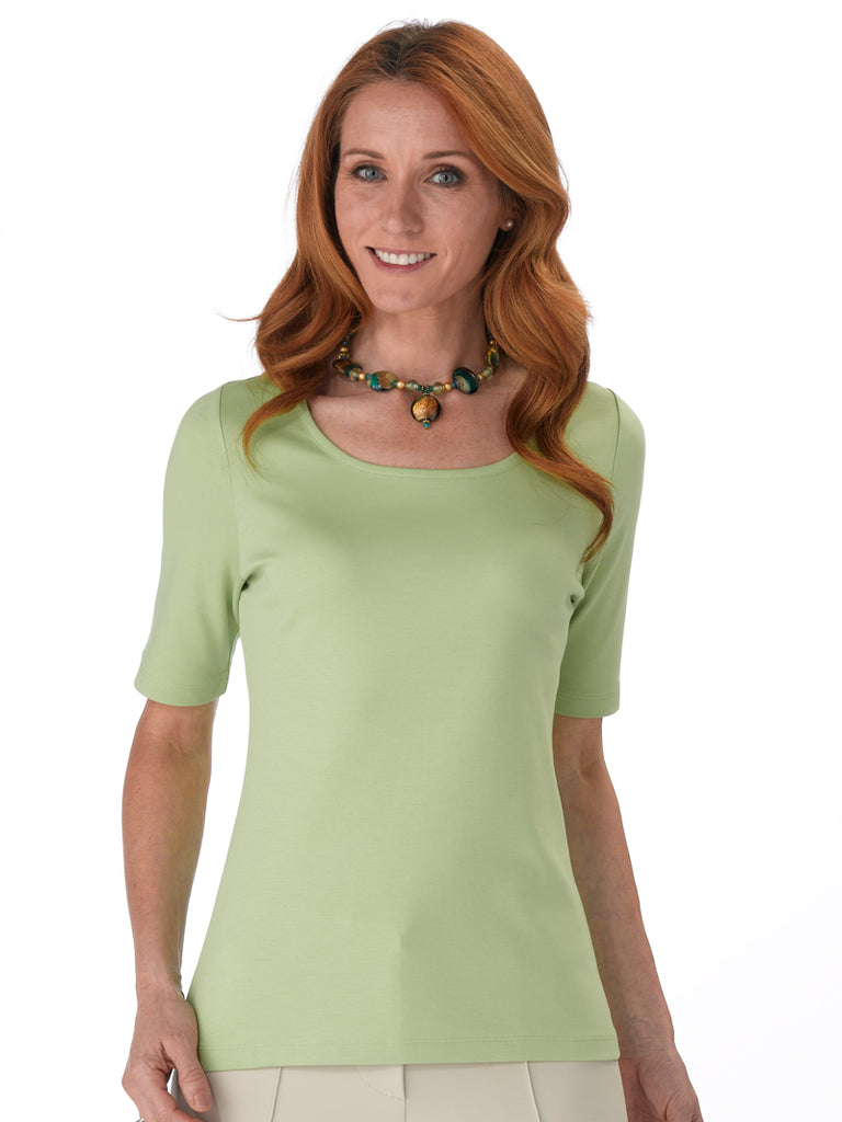 Pima Cotton T Shirt - Pilar in Peridot by Artisan Route