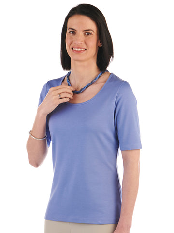 Pima Cotton T Shirt-Pilar in Campanula by Artisa Route
