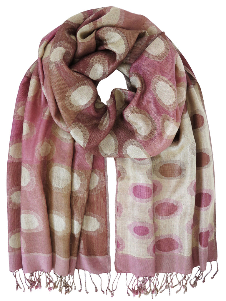 Silk Scarf - Planet Pink by Artisan Route