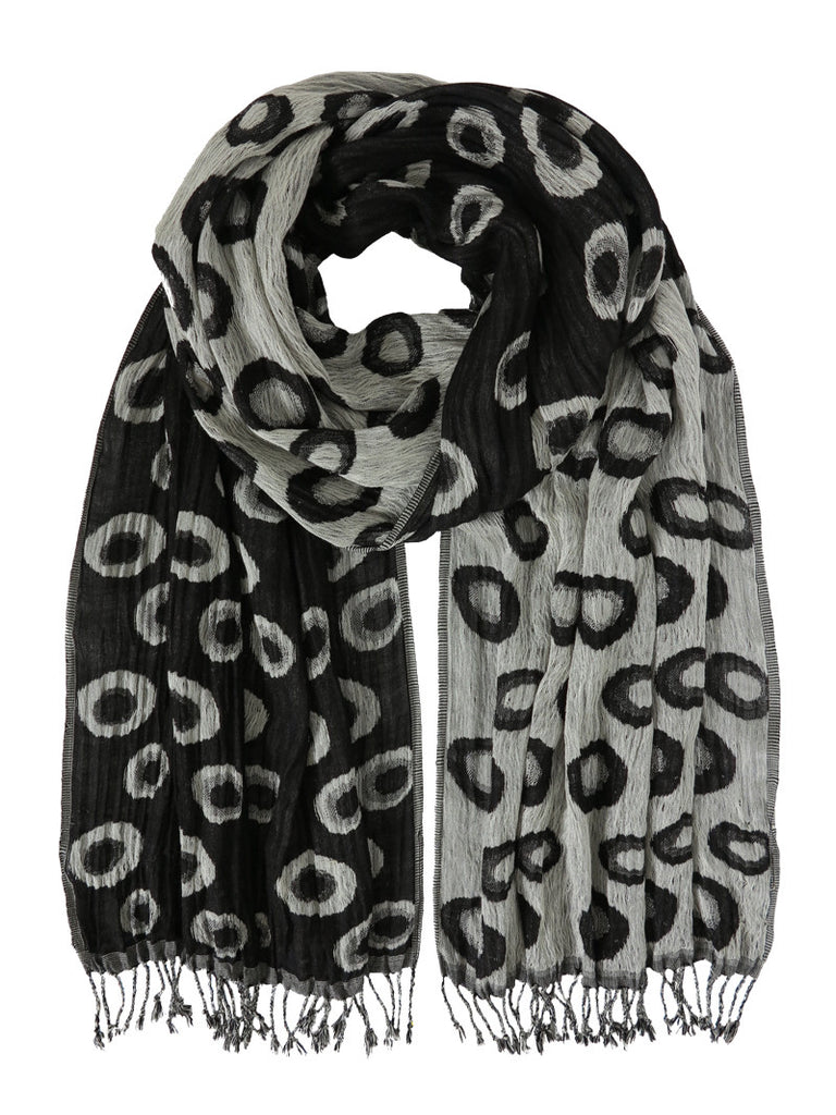 Silk Scarf - Planet Charcoal Mix by Artisan Route